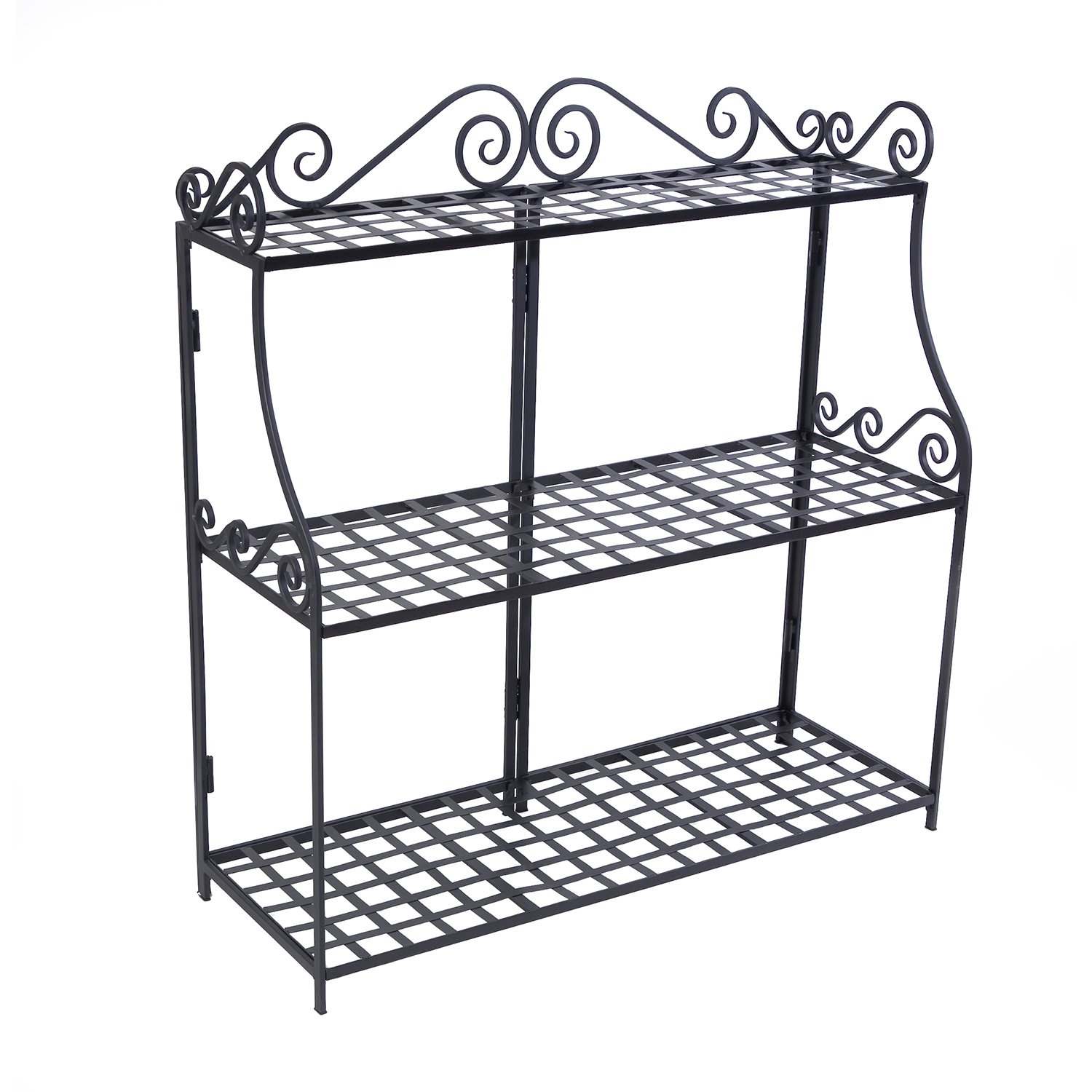 Panacea Products Forged 3-Tier Plant Stand, Black by Panacea Products