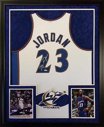 4ba6b5159ce38 Michael Jordan Washington Wizards Autograph Signed Custom Framed UDA ...