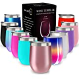 CHILLOUT LIFE 12 oz Stainless Steel Tumbler with Lid and Gift Box - Wine Tumbler Double Wall Vacuum Insulated Travel…