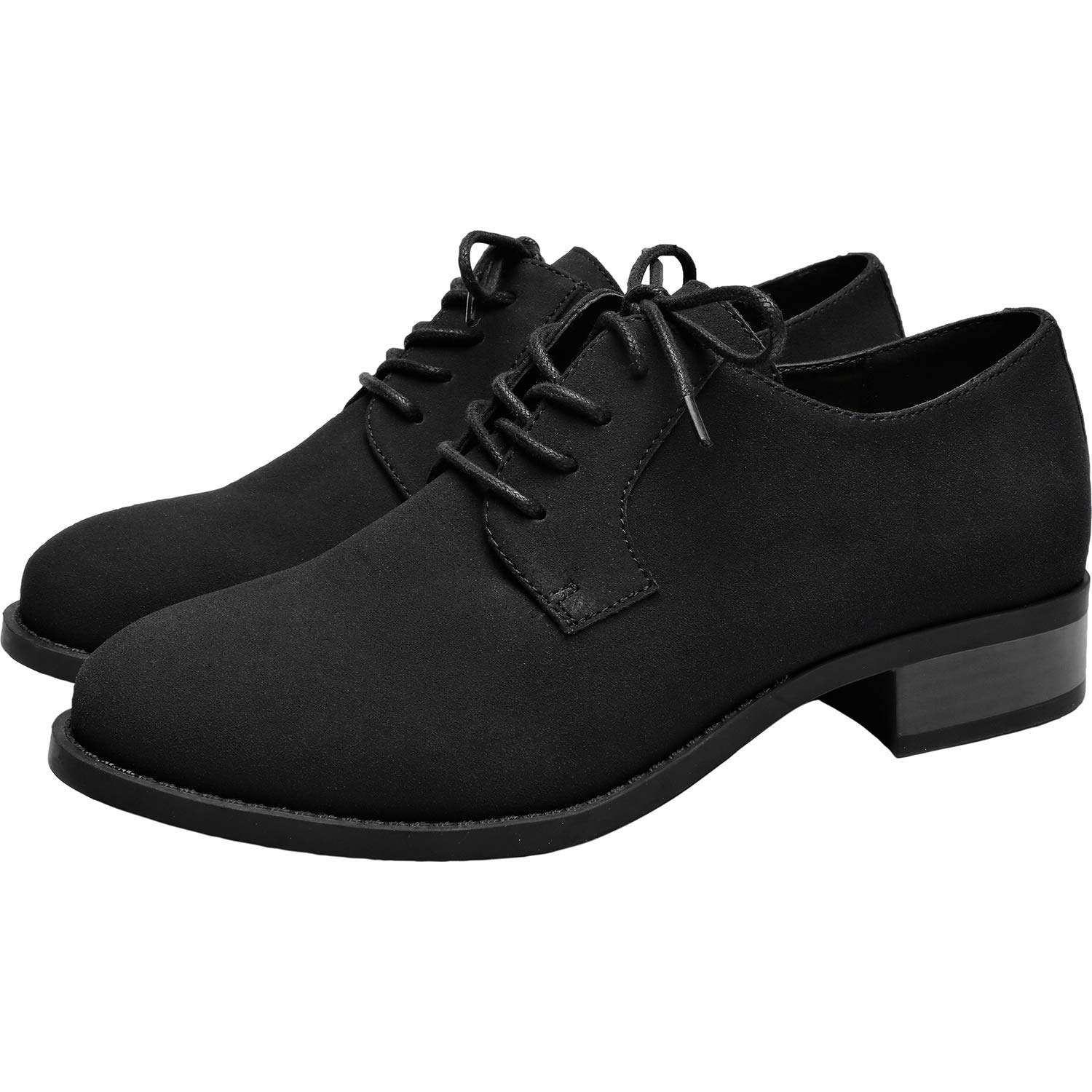 1930s Style Shoes – Art Deco Shoes Womens Wide Width Oxfords - Classic Flat Lace Up Urban Formal Shoes. $47.99 AT vintagedancer.com