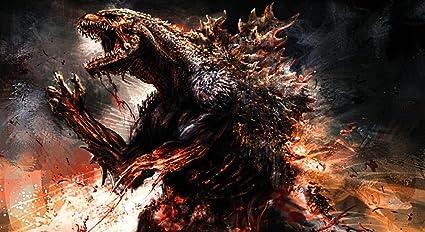 Alexander Godzilla 2014 Película Póster De Tela 24 X 13