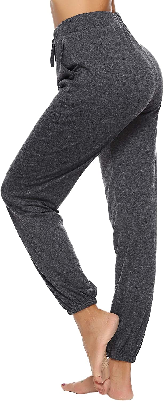 Aibrou Pajama Pants for Womens Sweatpants Jogger Pant Cotton Stretch Knit Lounge Pants Bottoms