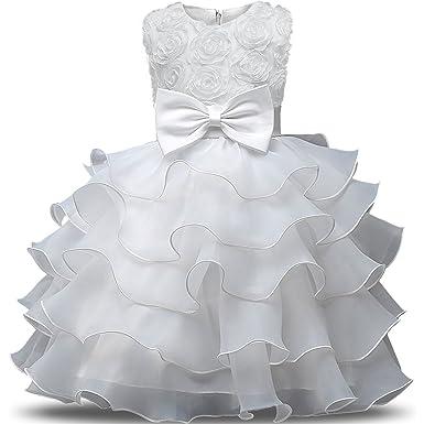 NNJXD Robe de Filles Gamins Volants Dentelles Robes de Mariage pour Les  Parties Fleur Taille( 8faa7b8872a