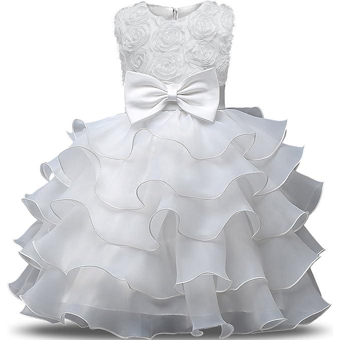 124 opinioni per NNJXD Vestito da Ragazza Festa in Pizzo per Bambini Abiti da Sposa