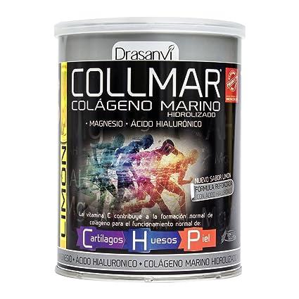 COLLMAR Colágeno Marino Hidrolizado con Magnesio, Ácido Hialurónico y Vitamina C 300 g Sabor Limón