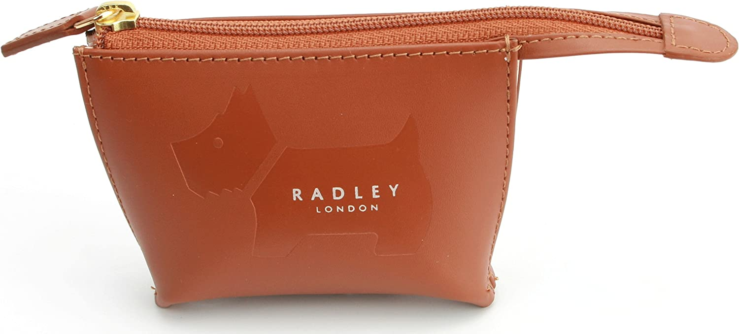 Radley Leather Large Dog Coin Purse Brown