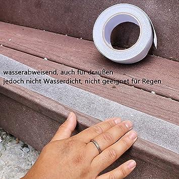 A168 + A168 X 2 banda antideslizante 5 m x 2,5 cm transparente: Amazon.es: Bricolaje y herramientas