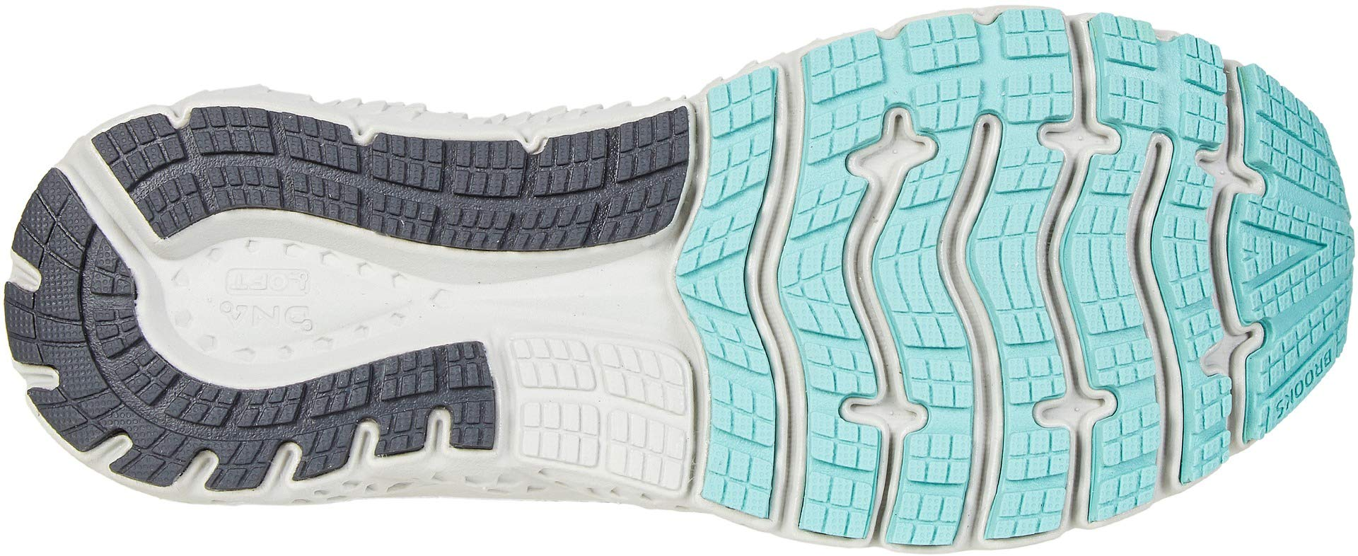 Brooks Women's Glycerin 17 Grey/Aqua/Ebony 5 B US by Brooks