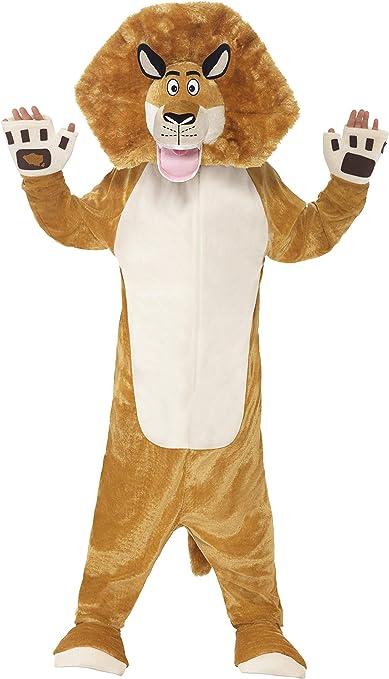 Smiffys - Disfraz infantil Alex, el león de Madagascar, color ...