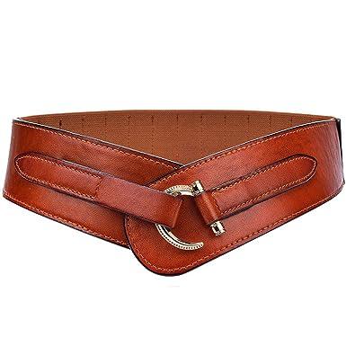 farblich passend super beliebt Laufschuhe Cheerlife Damen Leder Gürtel 5cm Breiter Hüftgürtel Vintage Taillengürtel  für Kleider Mantel