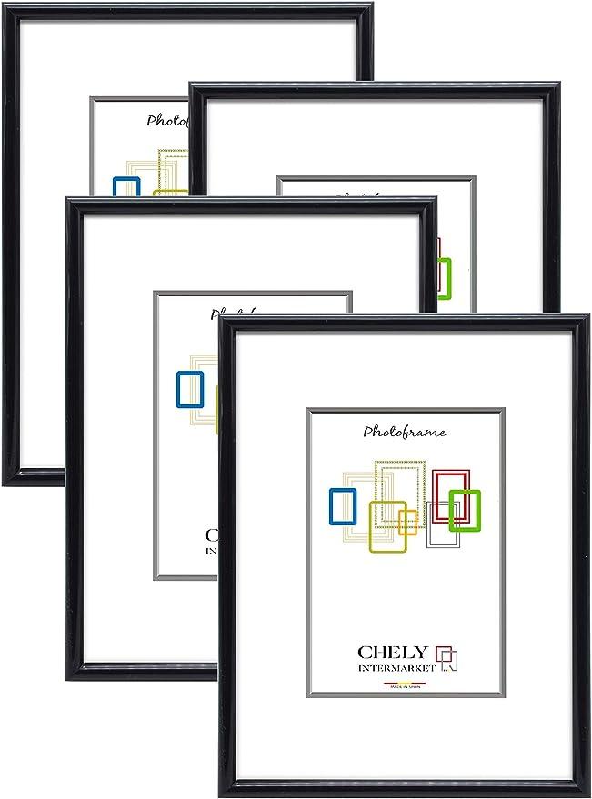 Chely Intermarket, Marcos de fotos 13x18cm MOD-312 (Negro) (Pack ...