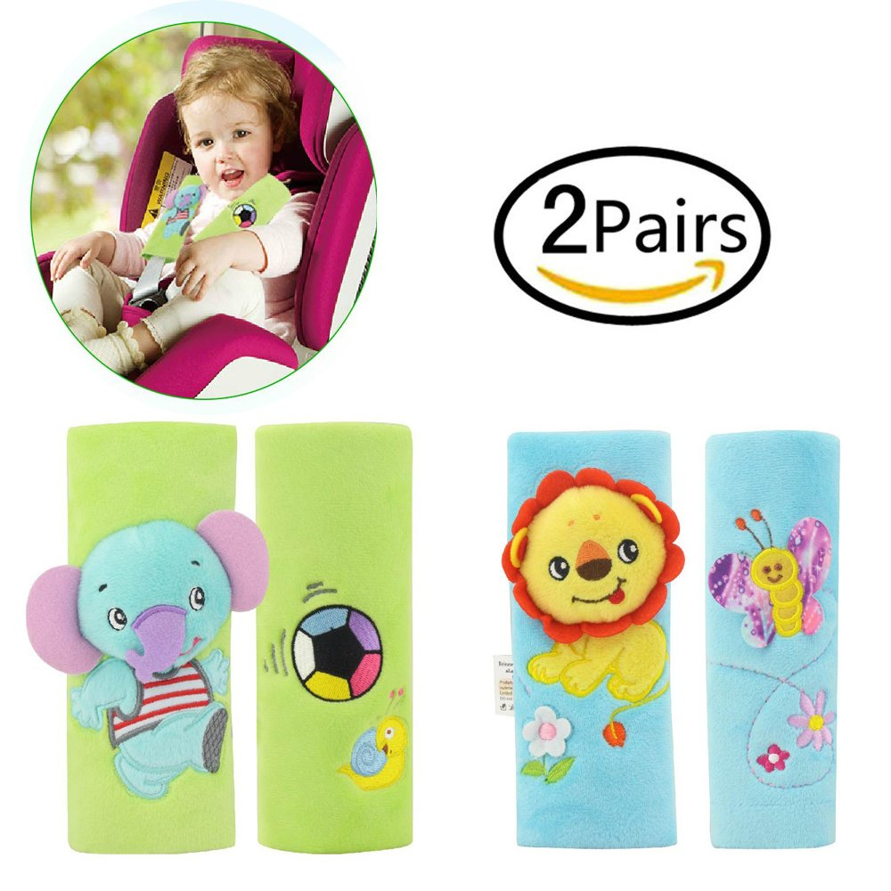 Infant and Baby Car Seat Strap Covers,Stroller Belt Covers,Head Support, Shoulder Pads jingbao toys