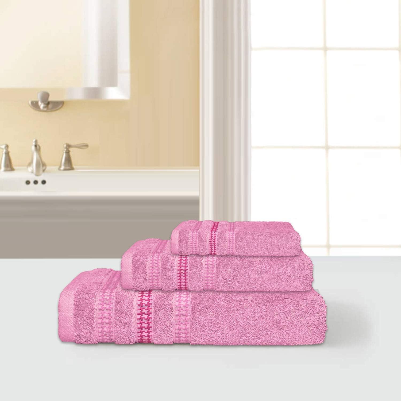 Imperial Rooms - Juego de Toallas de baño (100% algodón Egipcio, 3 Piezas, 600 g/m², Secado rápido): Amazon.es: Hogar