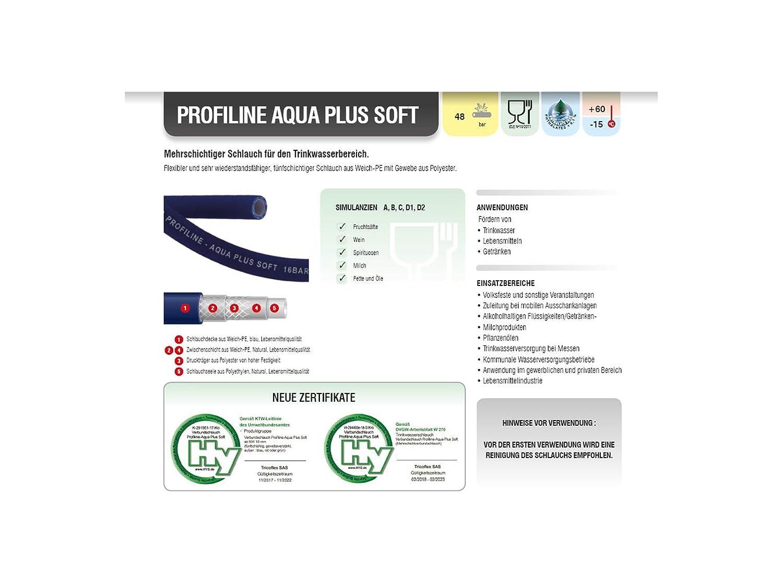 Hochflexibler Trinkwasserschlauch Profiline-Aqua Plus SOFT nach KTW ...