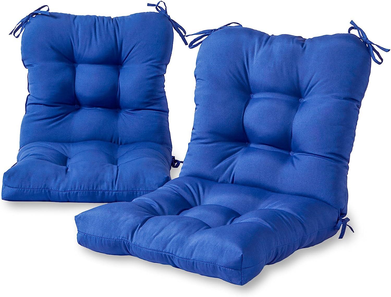Greendale Home Fashions AZ6815S2-MARINE Blue Outdoor Chair Cushion (Set of 2)
