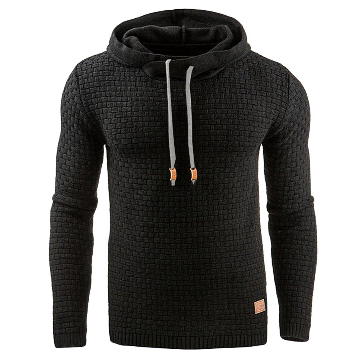Haseil Mens Longsleeve Pullover Hoodie Winter Warm Athletic Hooded Sweatshirts