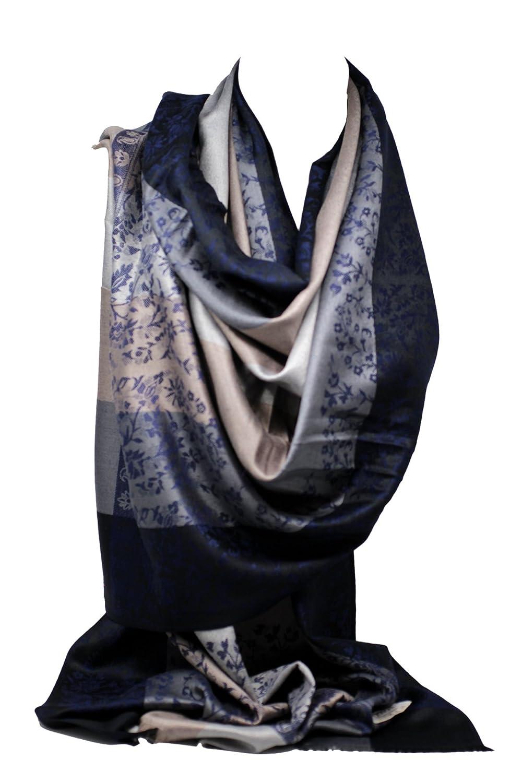 2 lati, alta qualità, con stampa in rilievo e sciarpa Pashmina, stola, scialle
