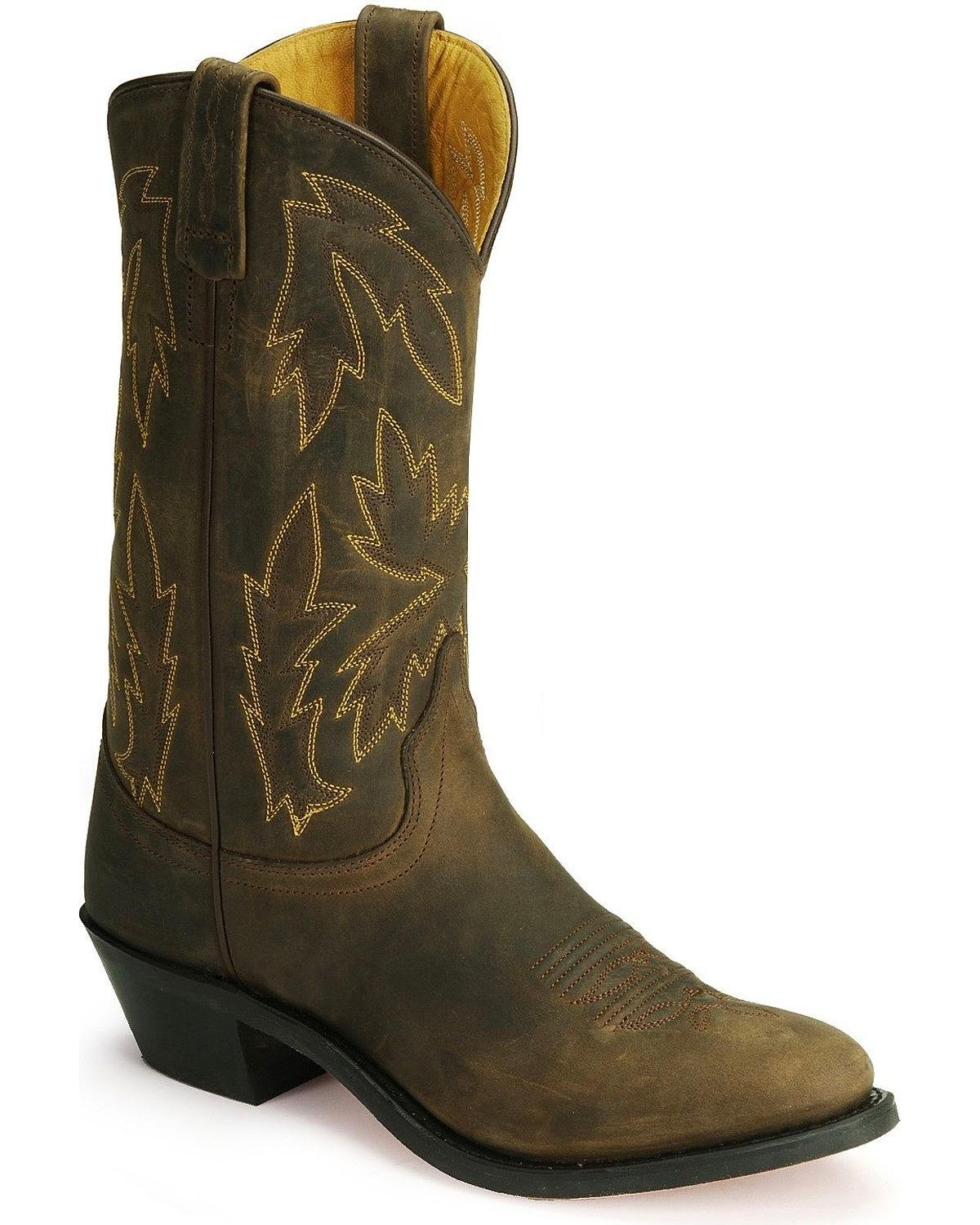 Old West Women's Polanil Western Cowboy Boot Round Toe - Ow2034l B005PP3G74 8 M US|Apache Tan