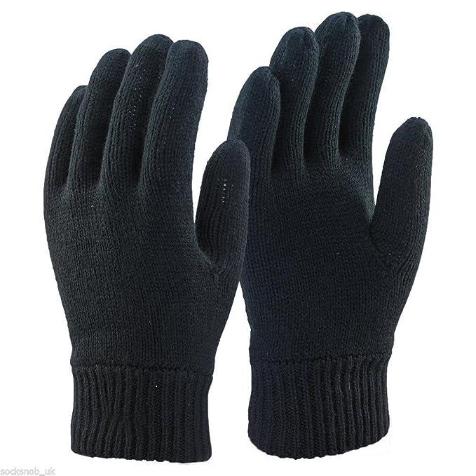 Uomo 3M Thinsulate termico invernali foderati nero Guanti (S/M)