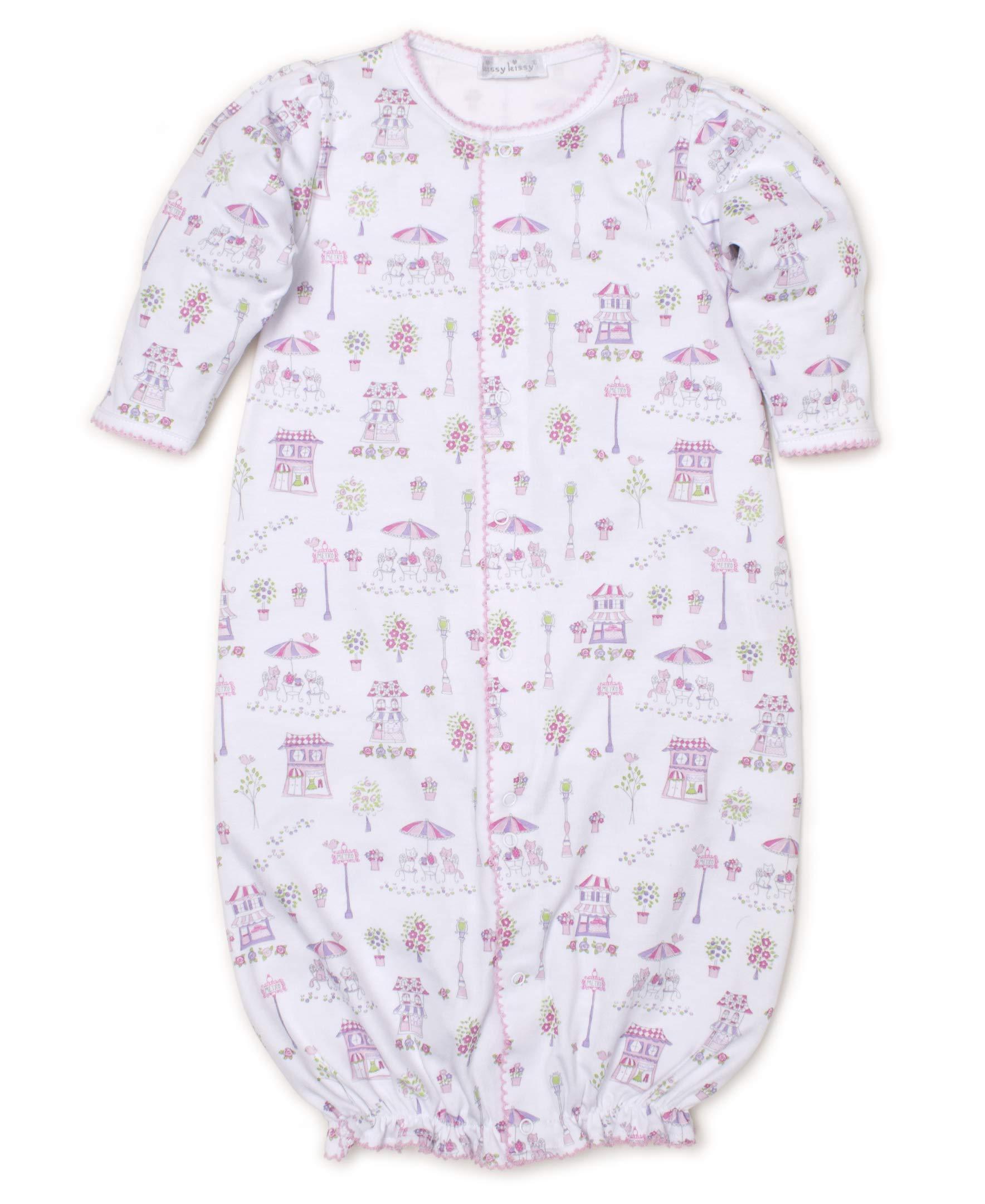 Kissy Kissy Baby-Girls Infant Parisian Promenade Print Convertible Gown-Pink-Small by Kissy Kissy