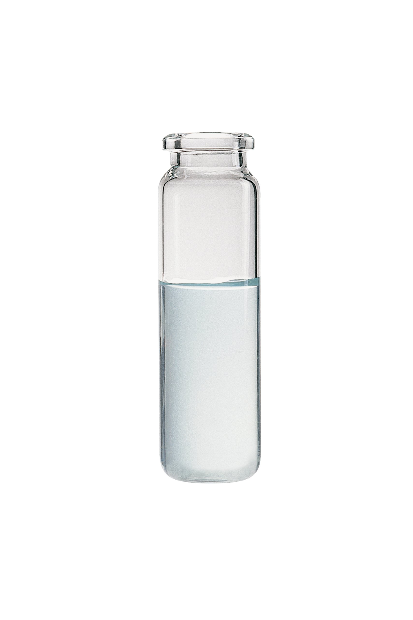 National Scientific Clear Glass Beveled Edge Flat Bottom Headspace Vial, 20mL Capacity (Case of 1000)