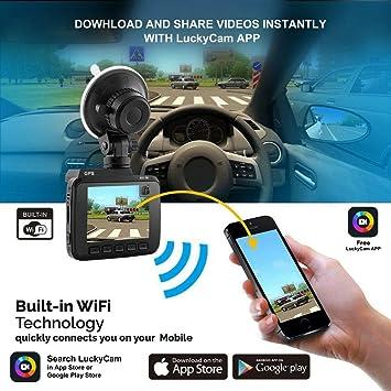AZDOME GS63H 4K 2160P Cámara de salpicadero de Coche WiFi DVR GPS ...