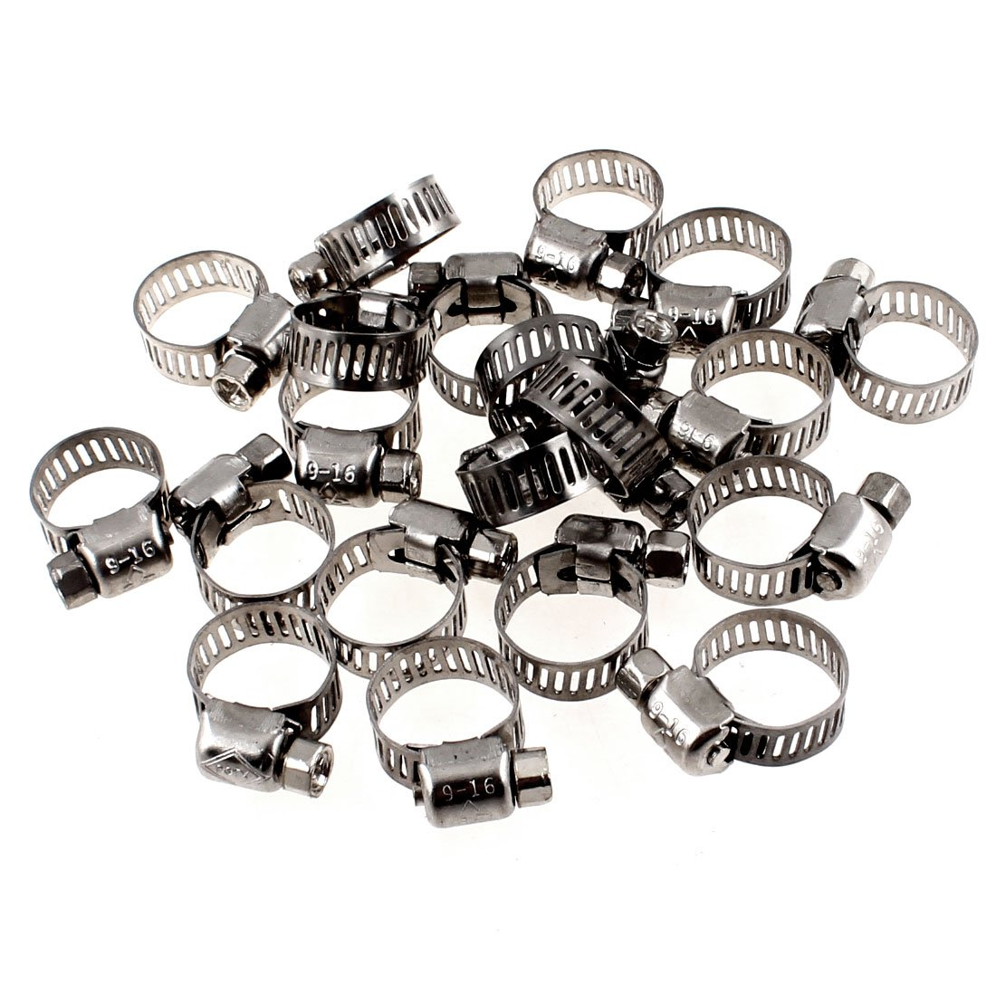 Uxcell a13040300ux0757 Adjustable Stainless Steel Worm Gear Hose Clamps (20 Piece), 9mm-16mm Uxcell (UXCE9)