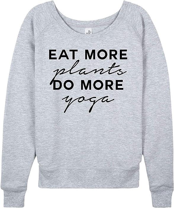 Amazon.com: Instant Message Eat More Plants Do More Yoga ...