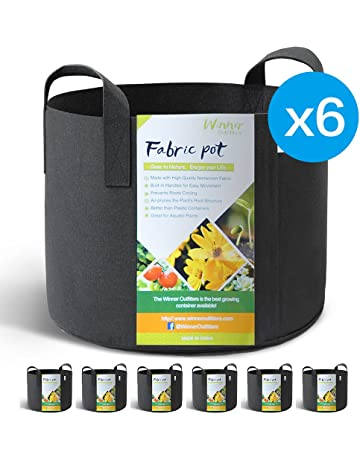 1e7b6a3407b WINNER OUTFITTERS 6-Pack 5 Gallon Grow Bags Aeration Fabric Pots with  Handles