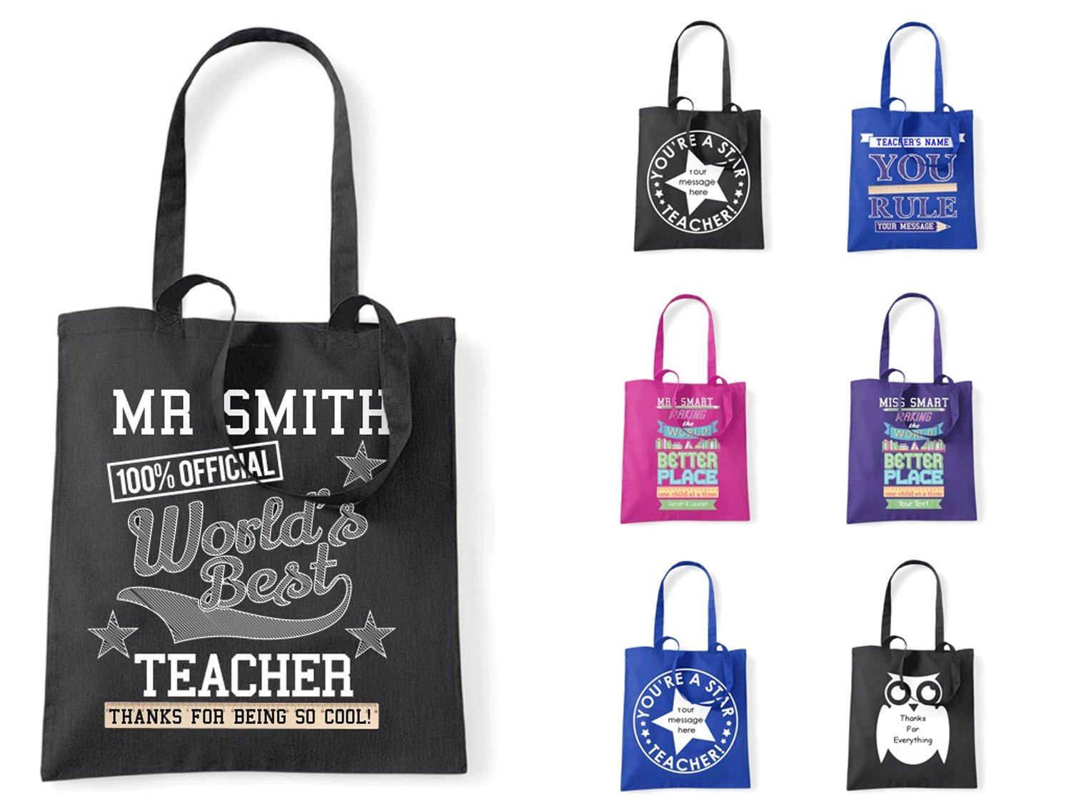 Bags for school teachers - Personalised Bag For Teachers Leaving Gift At School Amazon Co Uk Kitchen Home