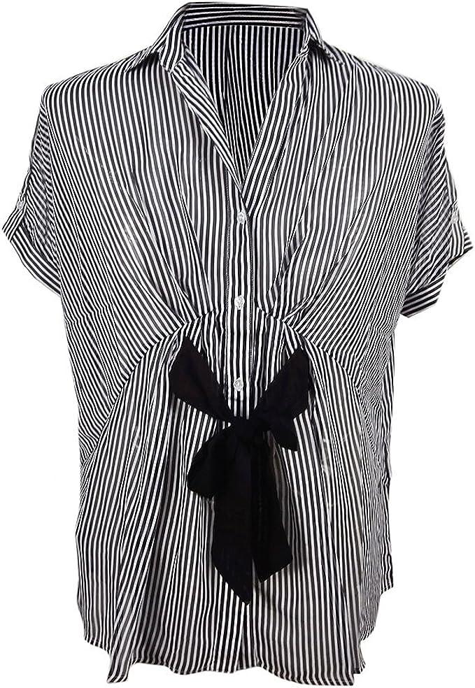 Verano Mujer Formal Ver a Trav�s de Lujo Seda Gasa Camisa Blusa ...