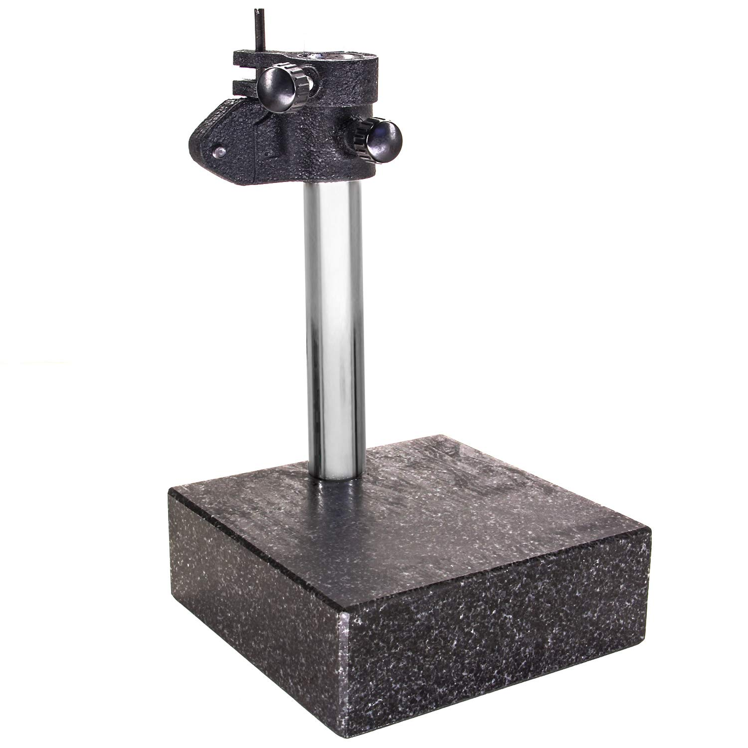 HFS (R) GRANITE SURFACE CHECK COMPARATOR STAND PLATE 6'' x 6'' x 2'' BASE, 10'' Column by HFS