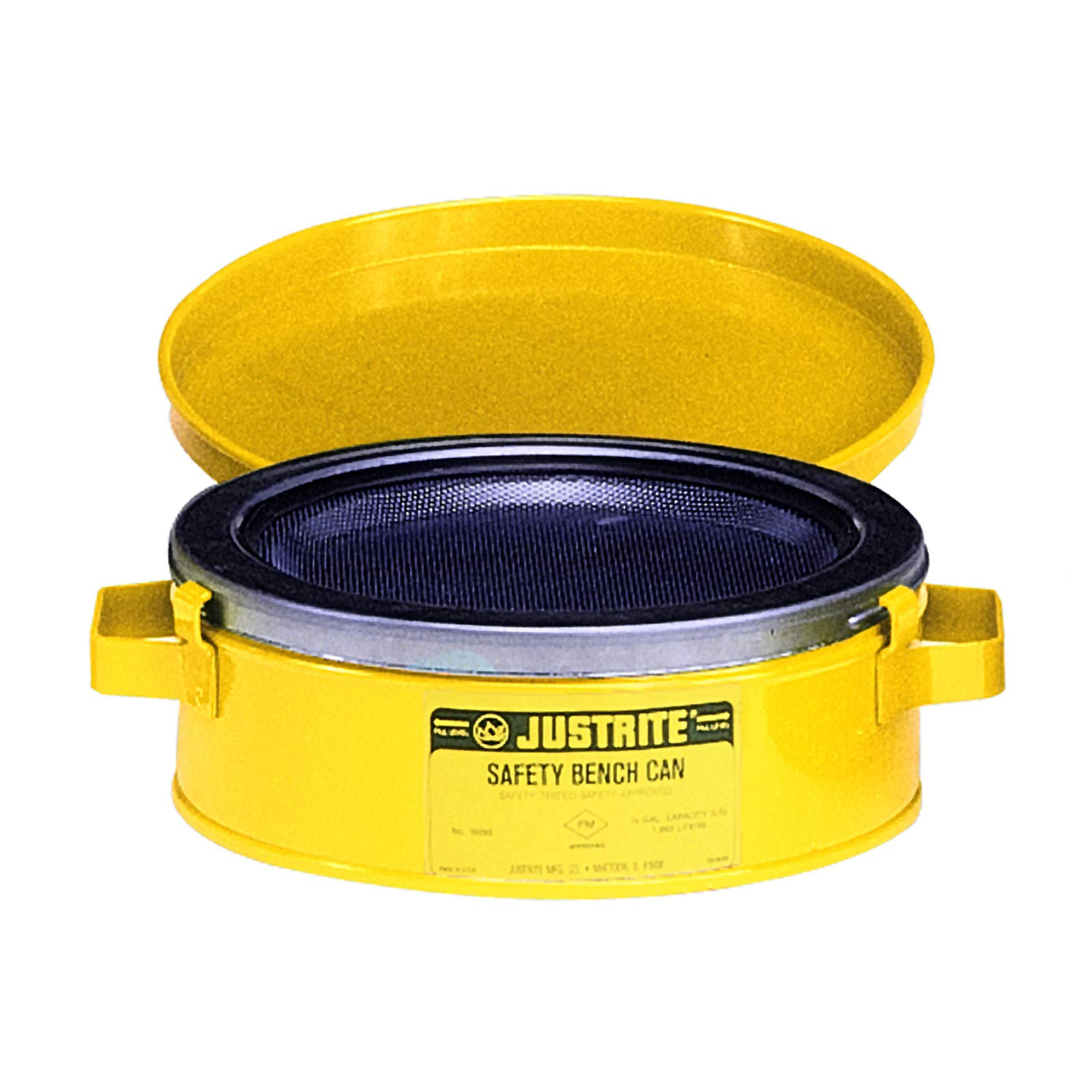 Justrite 10291 Bench Can, 2 Qt, Yellow