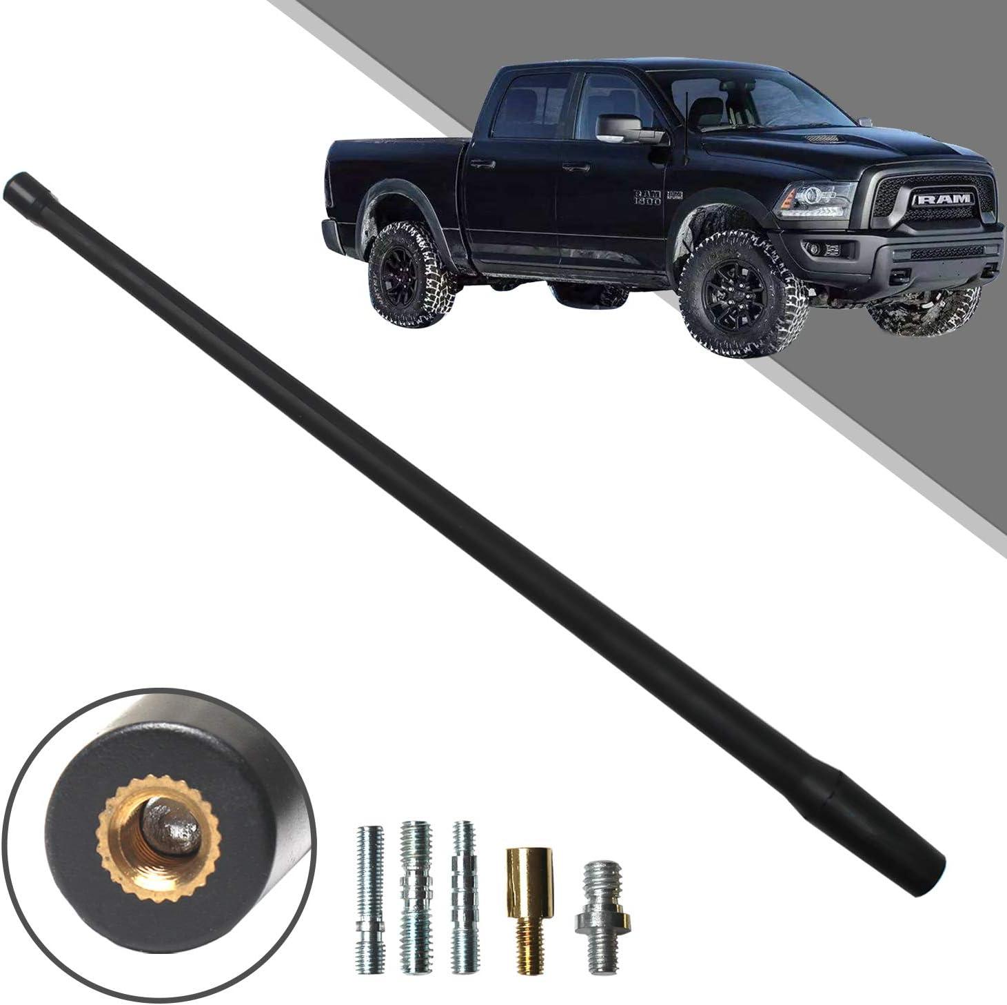 """FITS 1999-2008 Dodge Ram Truck 1500-13/"""" SHORT Flexible Rubber Antenna Mast"""