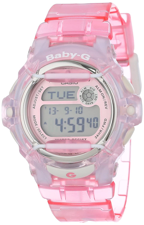 951443be52 Casio Women's BG169R-4 Baby-G Pink Whale Digital Sport Watch