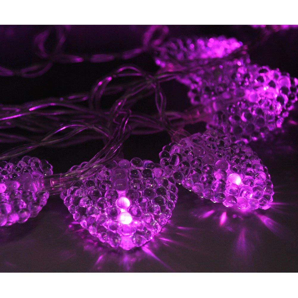 Blue LightsGo/® Battery Powered Powered Hearts shape Indoor LED Fairy Lights 20LEDs 2M