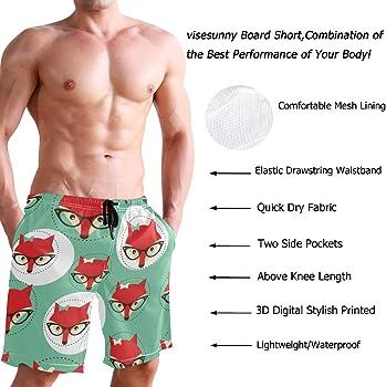 Men/'s Swim Trunks Beach Board Swimwear Shorts Cats in Sunglasses Swimming Short Pants Quick Dry Water Shorts Mesh Lining
