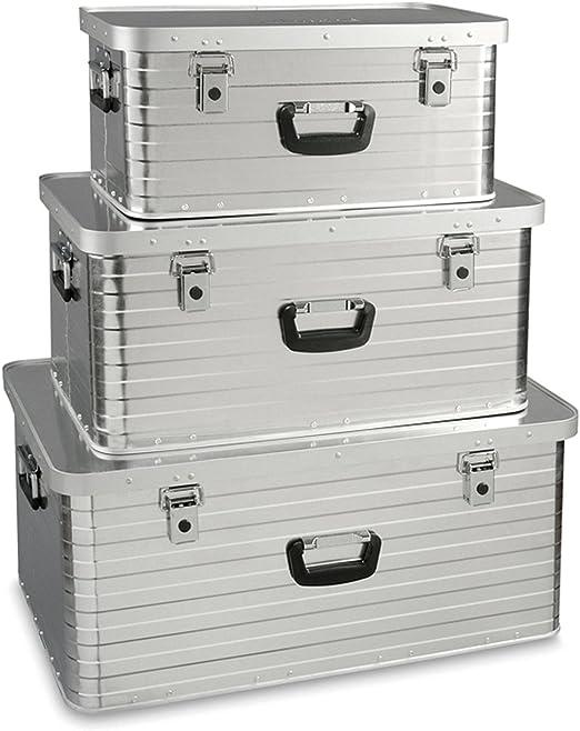 Enders Toronto Storage Box Set 3 (47 l, 80 l, 130 l), Silver: Amazon.es: Hogar