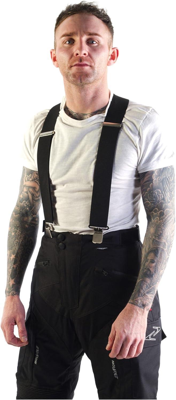 MOTO Accessories Motorcycle Braces for Men Heavy Duty Motorbike Elasticated Adjustable Y Shape Braces 3 Colors