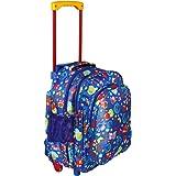 Da Tasche Polyester Waterproof Blue Trolley Printed School Bag/Backpack