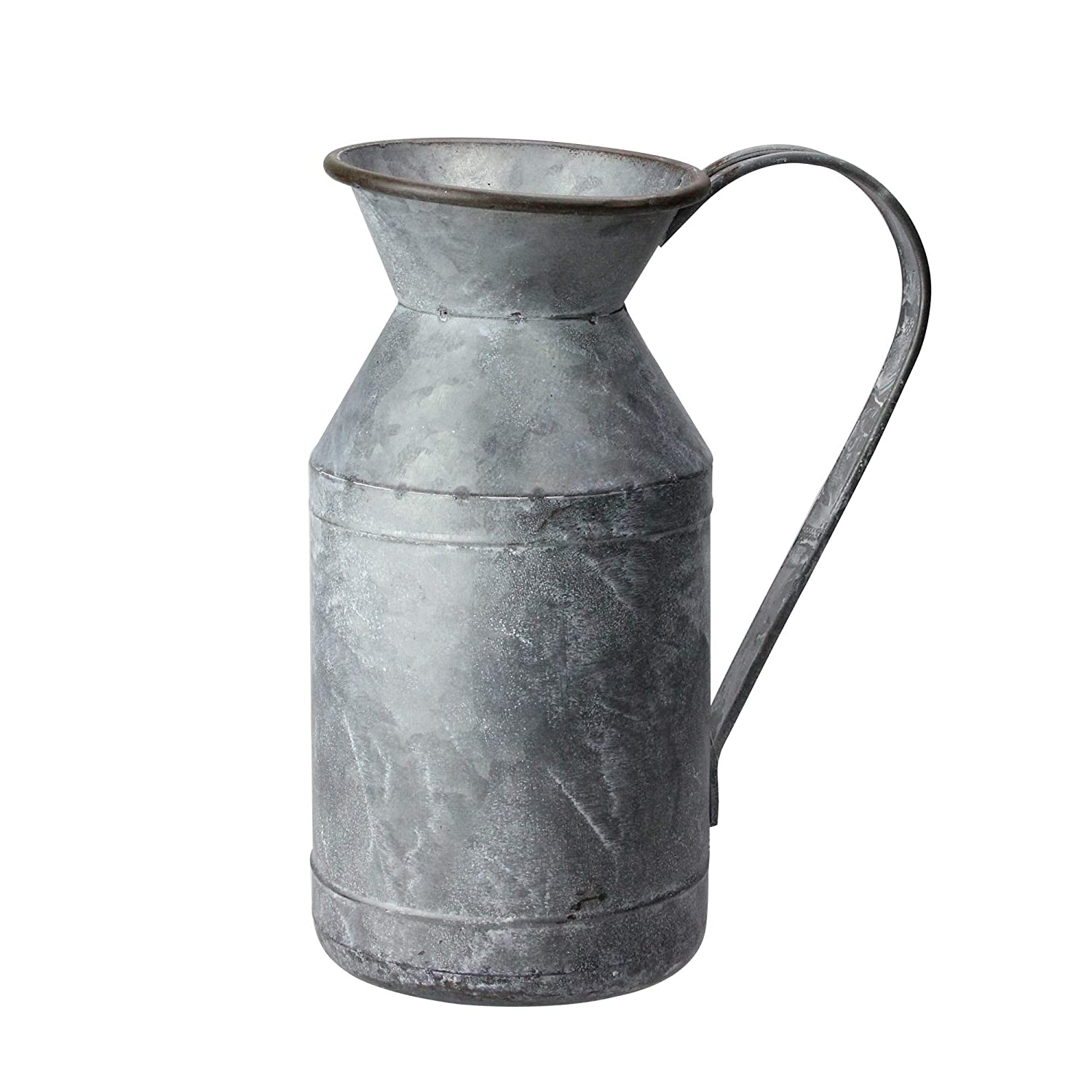 RAZ Imports Rustic Galvanized 11 inch Iron Metal Decorative Farmhouse Pitcher