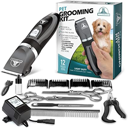 Professional Pet Dog Cat Hair Trimmer Cordless Animals Shaver Grooming Clipper