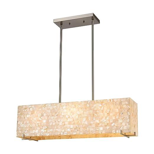 Amazon.com: Capri - Lámpara de techo (3 luces, níquel ...