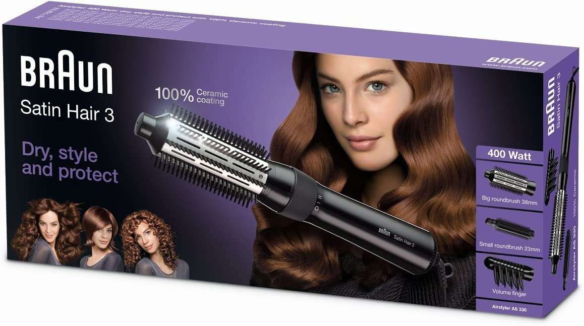 Braun Satin Hair 3 AS330 - Cepillo de pelo moldeador con 2 niveles ...