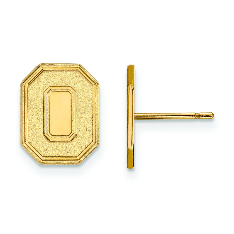 オハイオ州状態Small ( 1 / 2インチ)ポストイヤリング(ゴールドメッキ)   B01IYETJKA