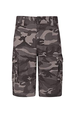 dc460a57ab Mountain Warehouse Mens Camo Cargo Shorts - 100% Cotton Twill Short Trousers,  Lightweight Pants