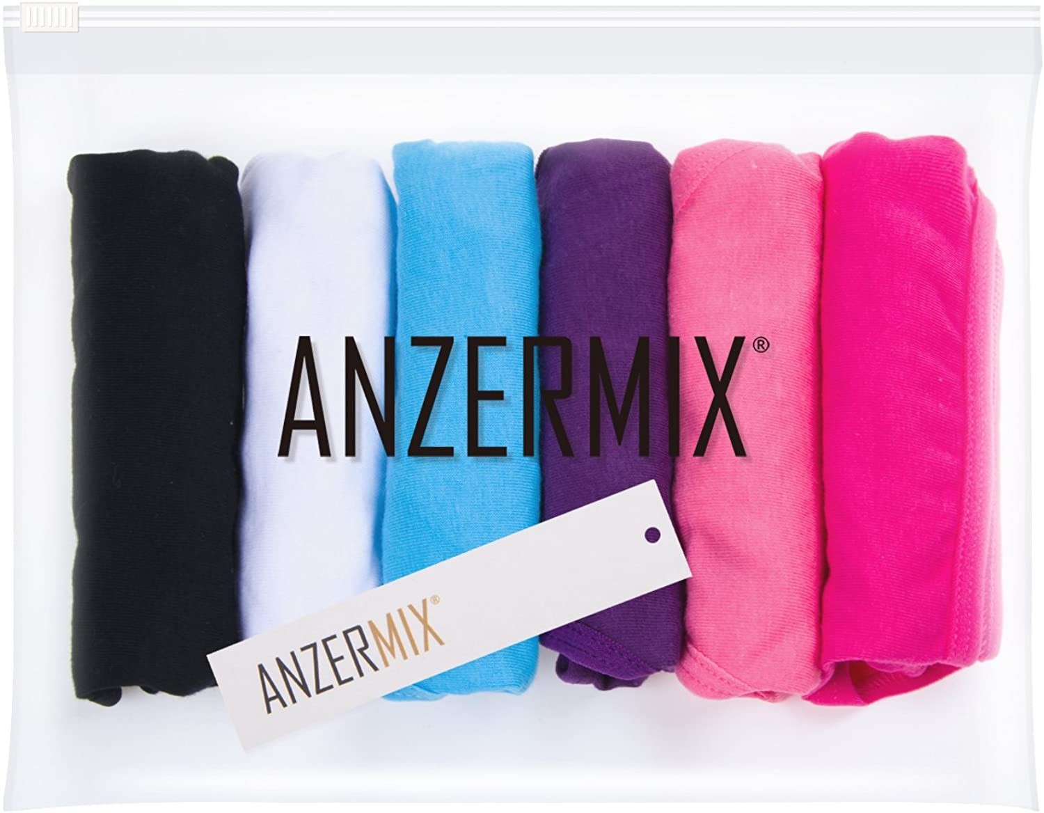 Anzermix Womens Breathable Cotton Tong Panties Pack of 6