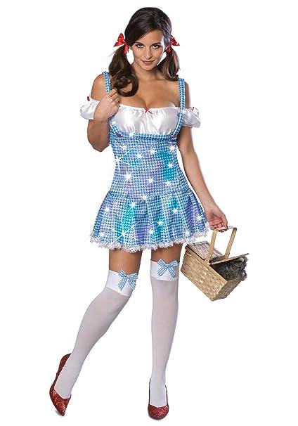 Wizard of Oz Sequin Dorothy Adult Costume Size Extra Small  sc 1 st  Amazon.com & Amazon.com: Secret Wishes Wizard Of Oz Dorothy Costume: Clothing