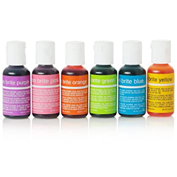 Chefmaster Neon Food Coloring, 6-Pack Neon Food Colors in Yellow, Green,  Blue, Purple, Orange &...