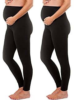 2d7b318bdc92ce Maternity Leggings Seamless Solid Color Nursing Clothes Tights - 1, 2, and  3 Pack